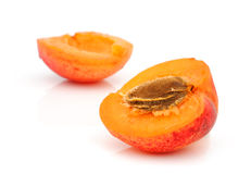 Ripe apricot with a stone Royalty Free Stock Photo