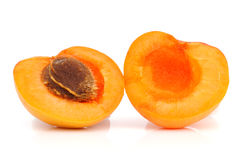 Ripe apricot with a stone Royalty Free Stock Images