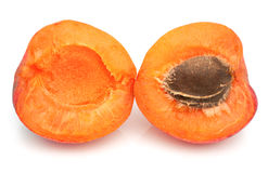 Ripe apricot with a stone Royalty Free Stock Photography
