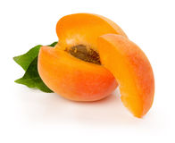 Ripe apricot on the white background Royalty Free Stock Photo
