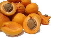 The ripe apricots Stock Image
