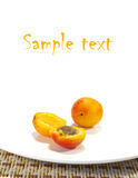 Ripe Apricots And Black Currant Royalty Free Stock Photography