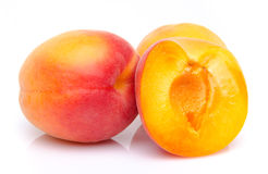 Ripe apricots close up Stock Images