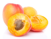Ripe apricots close up Royalty Free Stock Photos
