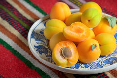 Ripe apricots fruits Stock Images