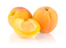 Ripe Apricots. Isolated on White Background Royalty Free Stock Images