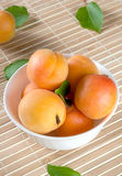 Ripe apricots on a plate Royalty Free Stock Image