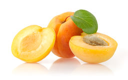 Ripe Apricots. On White Background Royalty Free Stock Photo