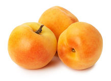 Ripe apricots on the white background Royalty Free Stock Photos