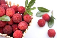 Ripe arbutus. Fresh fruits - ripe arbutus. isolated on white Stock Photos