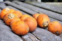 Ripe Areca Nut Kept For Drying Stock Image