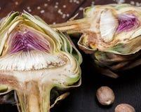 The ripe artichoke Stock Image