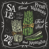 Ripe asparagus vector logo design template.  fresh Royalty Free Stock Images