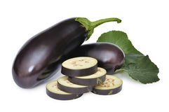 Ripe aubergine Royalty Free Stock Photography