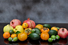 Ripe autumn fruits Stock Photos