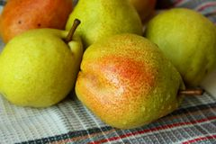 Ripe autumn pears Royalty Free Stock Photography