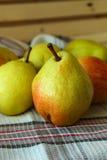 Ripe autumn pears Stock Photos