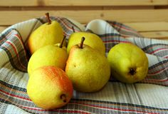 Ripe autumn pears Royalty Free Stock Image