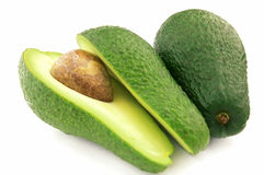 Ripe avacado. On a white background Stock Images