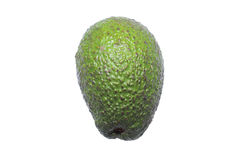 Ripe avacado. Close up of ripe avacado isolated on a white background Stock Photography