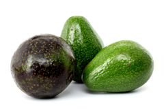 Ripe avacado isolated on white Royalty Free Stock Photography