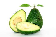 Ripe avacado isolated on white Royalty Free Stock Photo