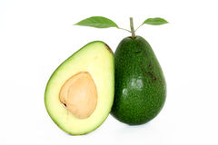 Ripe avacado isolated on white Royalty Free Stock Images