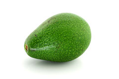 Ripe avacado isolated on white Stock Photography