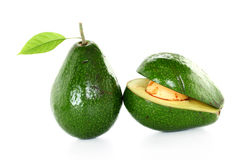 Ripe avacado isolated on white Stock Photo