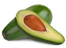 Ripe avocado. Isolated on white background Royalty Free Stock Photos
