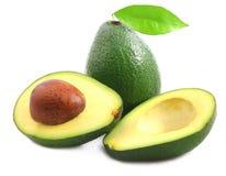 Ripe avocado isolated. On white Royalty Free Stock Photo