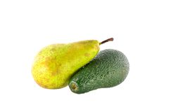 Ripe avocado and pear Conference Stock Photography