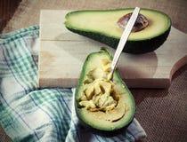 Ripe Avocado. Sliced Ripe Avocado, on cutting board Royalty Free Stock Photography