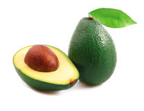 Ripe avocado . Stock Photo