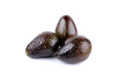 Ripe avocado on white Royalty Free Stock Photos