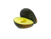 Ripe avocado  on white Stock Images