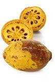 Ripe bael fruit  on white Royalty Free Stock Image
