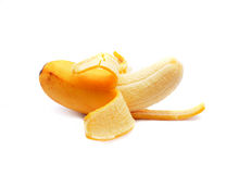 Ripe banana. S isolated on a white backgroud stock photo