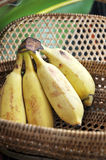 Ripe banana in basket Royalty Free Stock Images