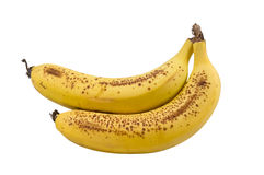 Ripe Banana with Brown Spots Royalty Free Stock Image