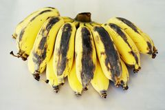 Ripe of banana Stock Images