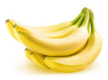 Ripe banana isolated on white background Stock Images