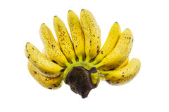 Ripe banana isolated on white background. Stock Images