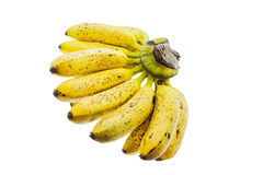 Ripe banana isolated on white background. Royalty Free Stock Photography