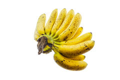 Ripe banana isolated on white background. Stock Photos