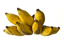 Over ripe banana. Said that the over ripe bananas are so much nutritious. Not only very good to our healthy but also it can prevent us from cancer Royalty Free Stock Images