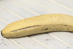 Ripe banana. Selective focus. High key Stock Photos