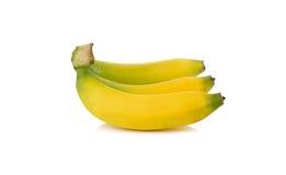 Ripe banana with stem on white Stock Image