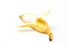 Ripe Banana. On white background Stock Photo