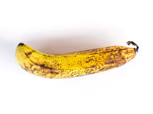Ripe banana on white Royalty Free Stock Photo